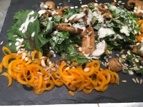 Creamy mushroom kelp noodles