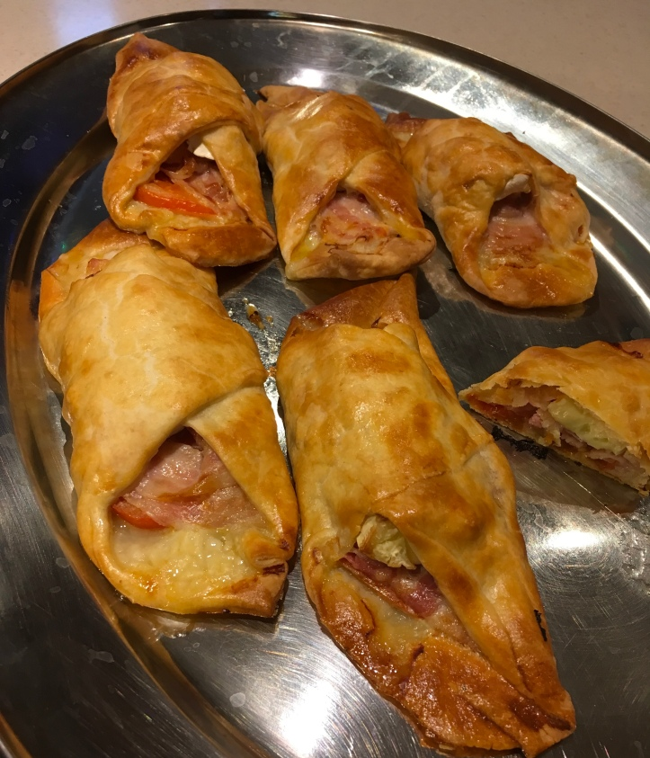 Turnovers Bacon Brie and tomato