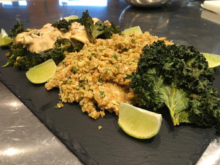 Broccoli hoisini with parsnip rice