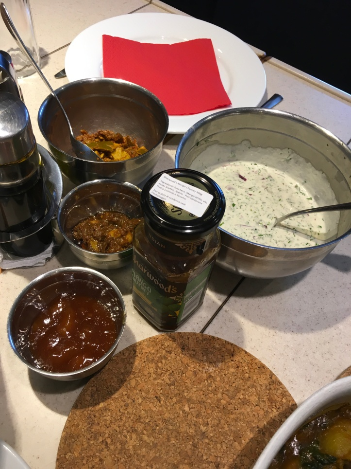 Dips Raita, garlic pickle, lime pickle