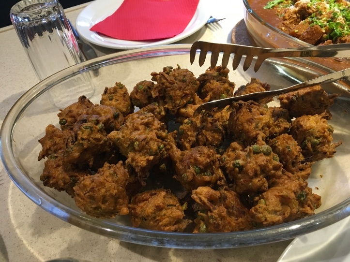 Carrot parsnip and onion pakora